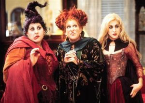 Three of the main witches in Hocus Pocus, demonstrating that online therapy isn't magic. We can do online therapy in Florida for codependency, self-sabotage, imposter syndrome, divorce recovery and more with online counseling for women with anxiety in Miramar, FL. Meet with online therapist in Florida, Enid.